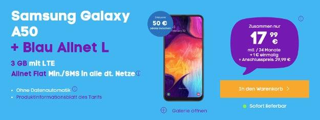 galaxy a50 + blau l