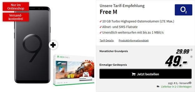 Samsung Galaxy S9 Plus + Xbox One S (1TB) + o2 Free M bei MediaMarkt