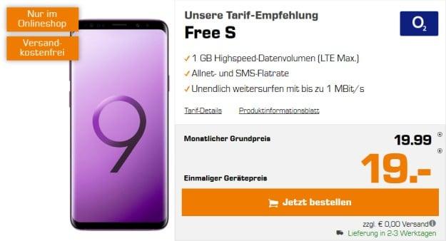 Samsung Galaxy S9 Plus + o2 Free S bei MediaMarkt