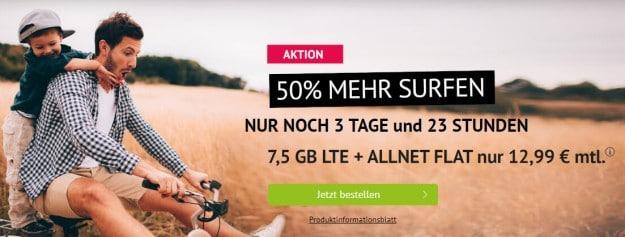 handyvertrag LTE All 5 GB Aktion mit 50 Prozent mehr Daten