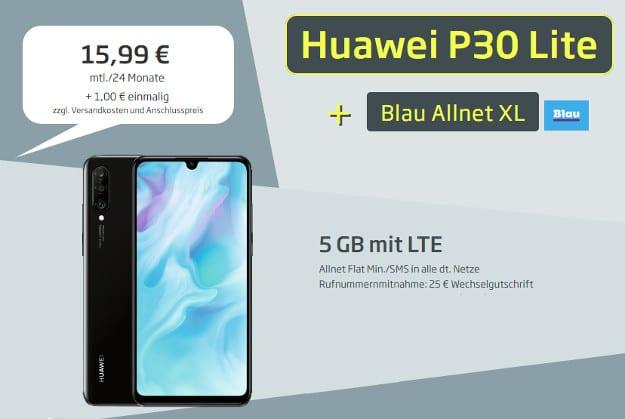 huawei p30 lite + blau xl