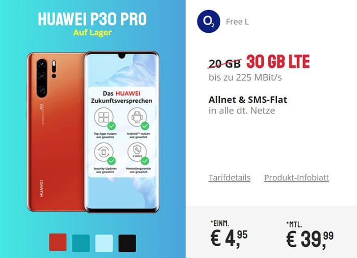 Huawei P30 Pro mit o2 Free L