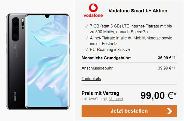 huawei p30 pro + vodafone smart l plus