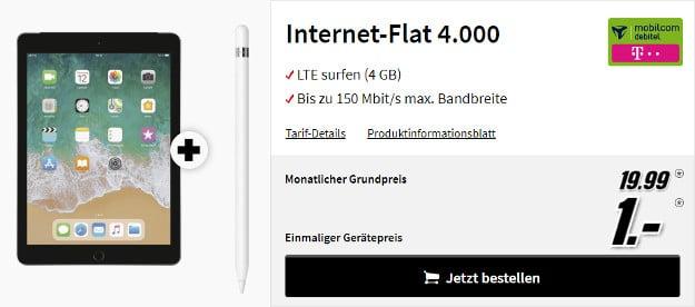 ipad 2018 + 4 gb lte telekom