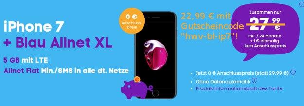 iphone 7 + blau allnet xl