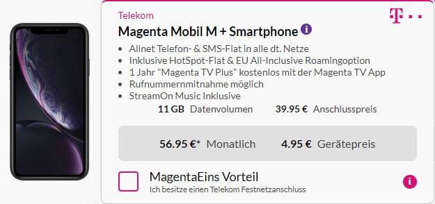 iphone xr 128gb + telekom magenta mobil m m young