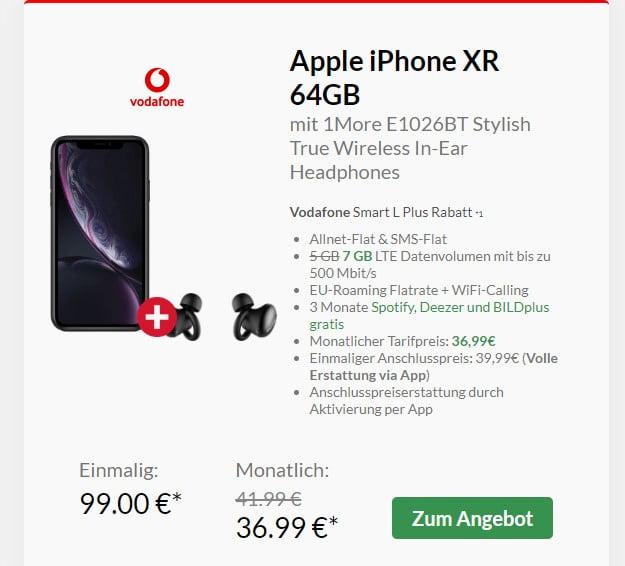 iphone xr + vodafone smart l plus + in ears