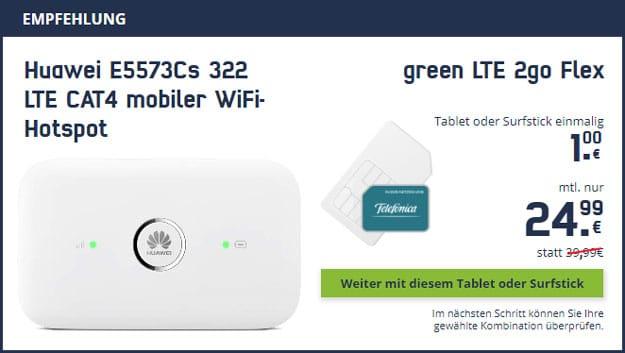 mobilcom-debitel green LTE 2go + Huawei E5573Cs-322 bei mobilcom-debitel