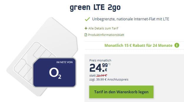 mobilcom-debitel green LTE 2go (SIM-only)