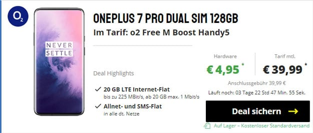 OnePlus 7 Pro + o2 Free M Boost bei Sparhandy