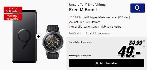 s9 + galaxy watch + o2 free m boost