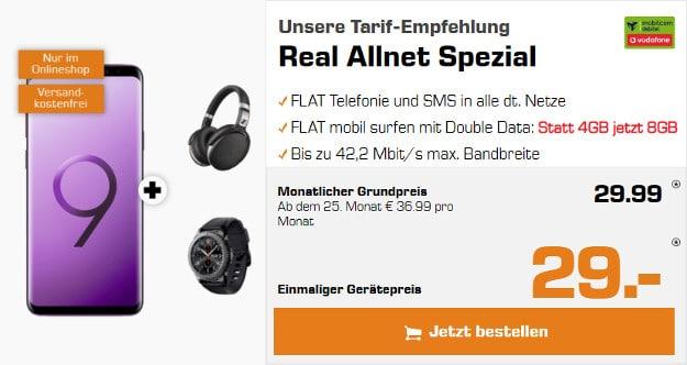 s9 plus + gear s3 + sennheiser + real allnet md vodafone