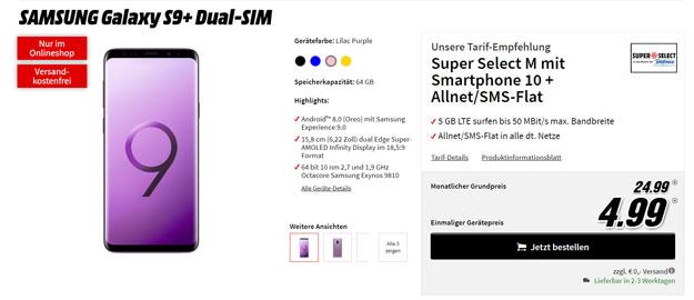 Samsung Galaxy S9 Plus mit Super Select M