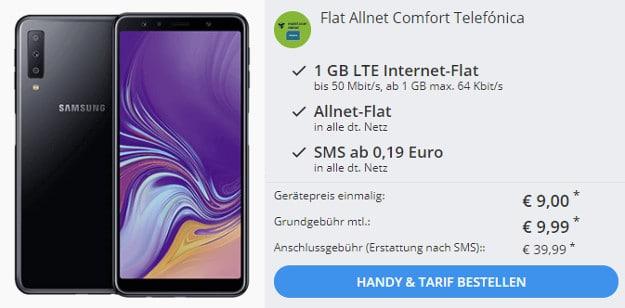 samsung galaxy a7 (2018) + md flat allnet comfort telefonica-netz