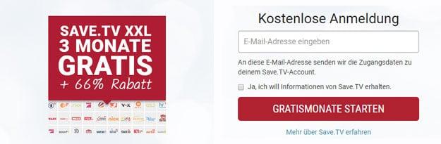 Save.TV Neukunden-Aktion: Online-Videorekorder 3 Monate statt 14 Tage lang kostenlos nutzen