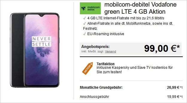 OnePlus 7 + green LTE