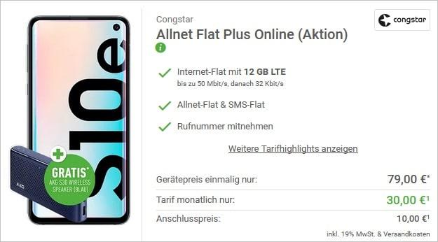 Samsung Galaxy S10e + congstar Allnet Flat Plus