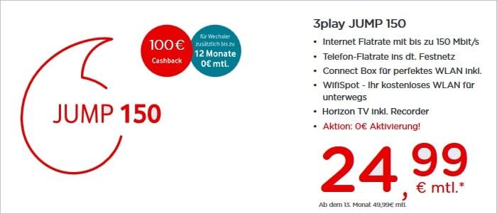 Vodafone 3play JUMP 150 Kabel Flat