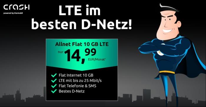 crash Allnet Flat 10 GB LTE (Telekom-Netz)