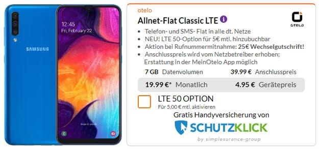 Samsung Galaxy A50 + otelo Allnet-Flat Classic LTE bei Preisboerse24