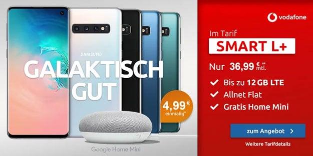 Samsung Galaxy S10 + Google Home Mini + Vodafone Smart L Plus bei LogiTel