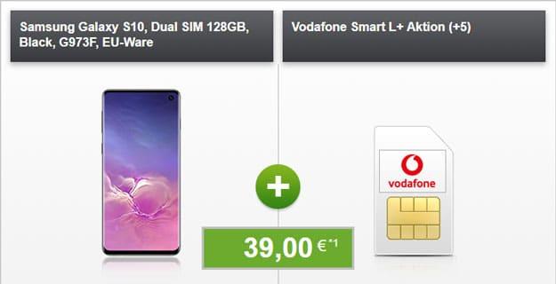 Samsung Galaxy S10 + Vodafone Smart L Plus bei modeo