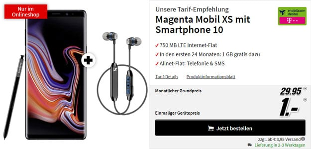 Samsung Galaxy Note 9 + Sennheiser CX 6.00 BT