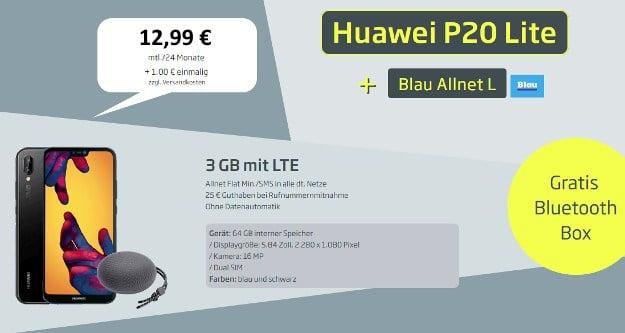 Huawei P20 lite + Blau Allnet L bei CURVED
