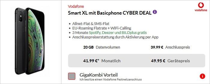 iPhone Xs mit Vodafone Smart XL bei Pb24