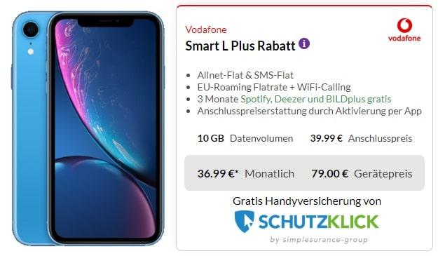 iPhone Xr + Vodafone Smart L Plus bei Preisboerse24