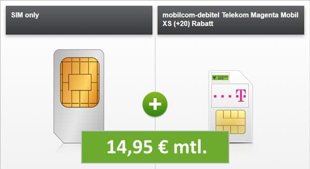 mobilcom-debitel Magenta Mobil XS (Telekom-Netz) bei Modeo