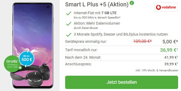 s10 + akg + vodafone smart l plus