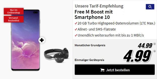 samsung galaxy s10 plus + o2 free m boost + akg y500 headset