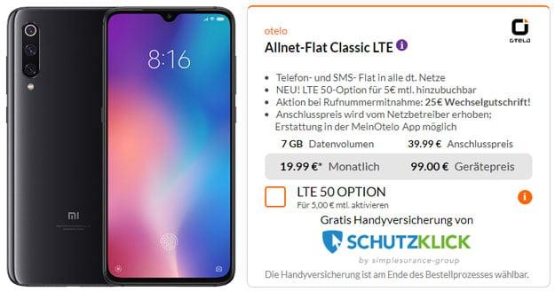 Xiaomi Mi 9 + otelo Allnet-Flat Classic LTE bei Preisboerse24