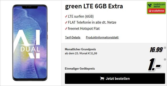 Huawei Mate 20 Pro + green LTE Vodafone