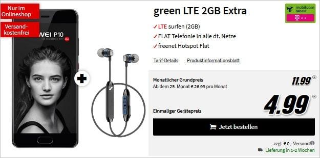 Huawei P10 + green LTE Telekom