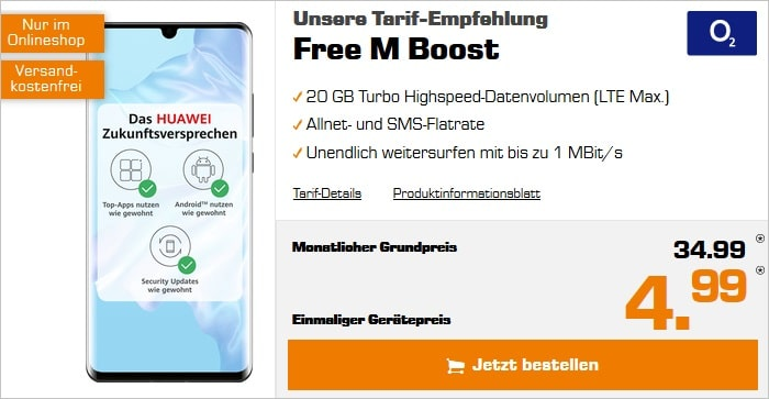 Huawei P30 Pro + o2 Free M Boost