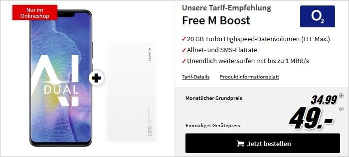 Huawei Mate 20 Pro + Powerbank + o2 Free M Boost bei MediaMarkt