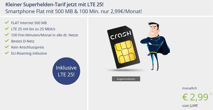 klarmobil Smartphone Flat 500 MB LTE bei Vitrado