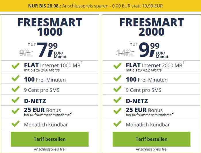 freenet mobile freeSMART Tarife