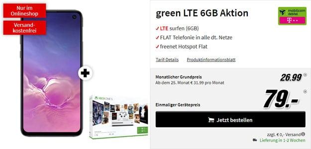 Samsung Galaxy S10e + Xbox One S Starter-Bundle + mobilcom-debitel green LTE (Telekom-Netz) bei MediaMarkt