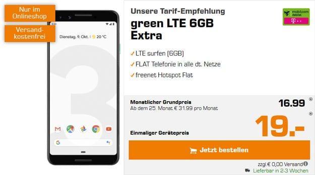Google Pixel 3 + mobilcom-debitel green LTE (Telekom-Netz) bei Saturn