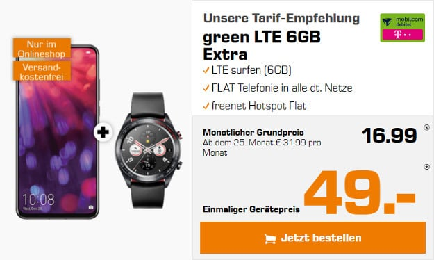 honor view 20 + watch + rgeen lte telekom