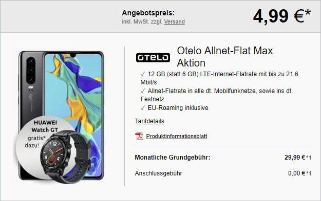 huawei p30 + otelo allnet flat max