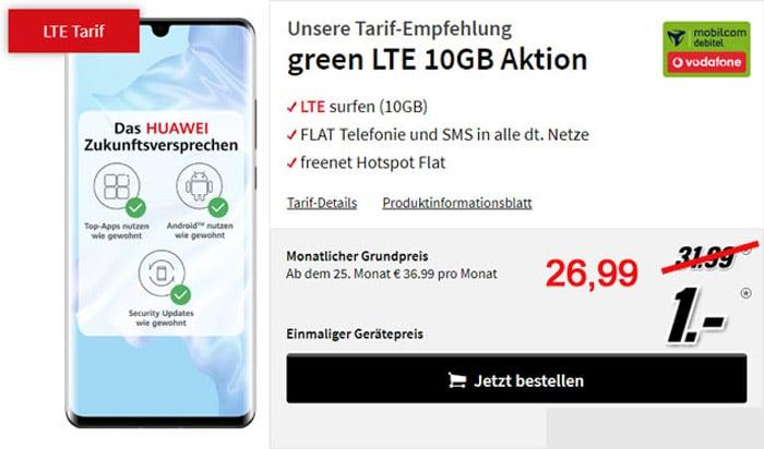 Huawei P30 Pro 10 GB LTE und Allnet-Flat im Vodafone-Netz - green LTE