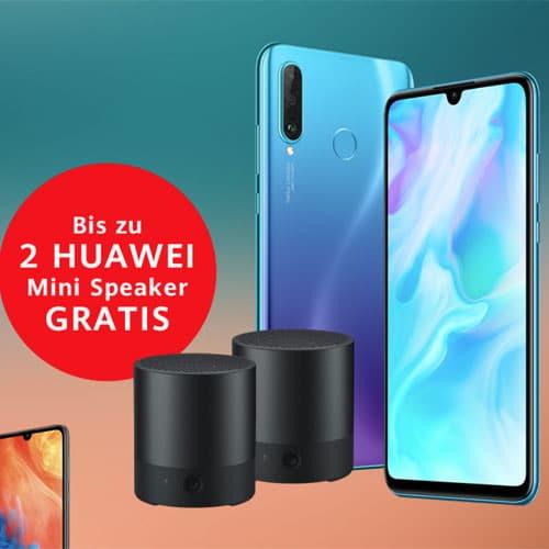 Huawei Sommeraktion: Bis zu 2 gratis Mini Speaker zum P30 lite, Mate 20 lite, P20 lite, P smart 2019 & mehr