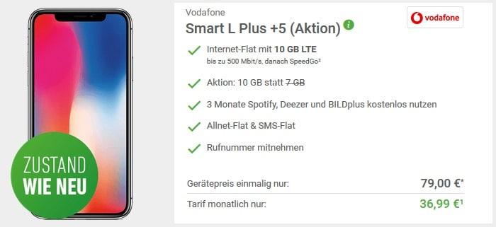 iPhone X B-Ware + Vodafone Smart L Plus