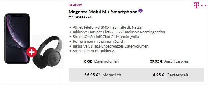 iPhone Xr + Sennheiser Headset + Telekom Magenta Mobil M