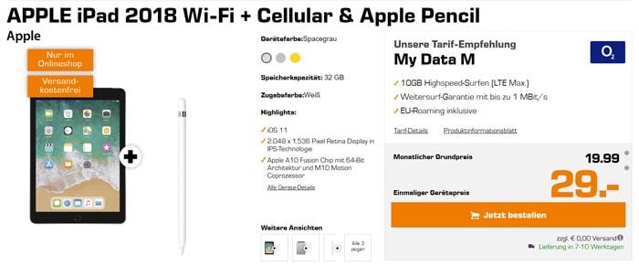 Apple iPad 2018 mit o2 my Data M