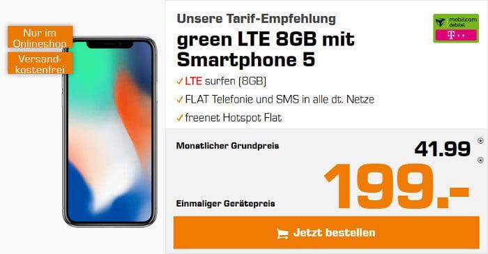 iphone x 256gb + green lte
